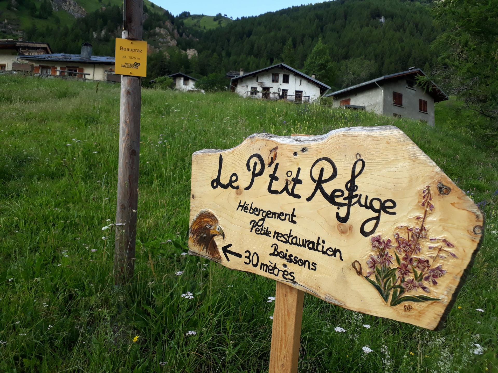 P'tit Refuge Rosuel, gîte refuge à Peisey-Nancroix, au hameau les Lanches Beaupraz. hébergement, petite restauration, boissons et desserts.